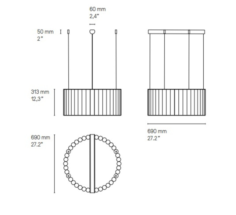 Gamma r40 sylvain willenz suspension pendant light  cvl lugammr40sg  design signed nedgis 117478 product