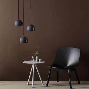 Suspension gap pendant round noir o15cm h14cm woud normal