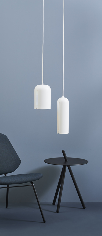 Suspension gap pendant tall blanc led o10cm h30cm woud normal