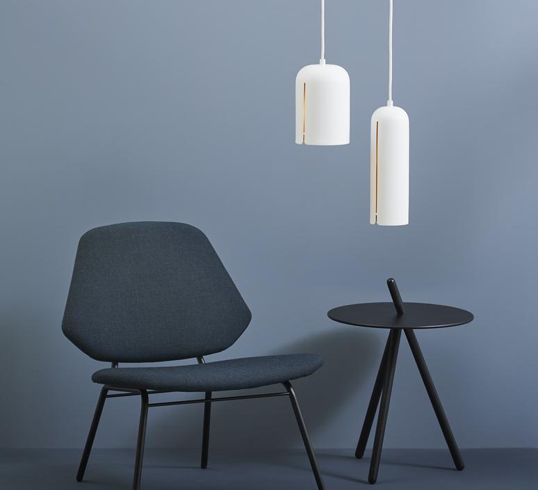 Suspension, Gap pendant tall, blanc, LED, Ø10cm, H30cm Woud
