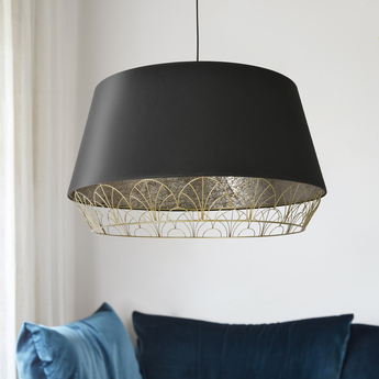 Suspension gatsby pendant noir l70cm o40 5cm market set normal