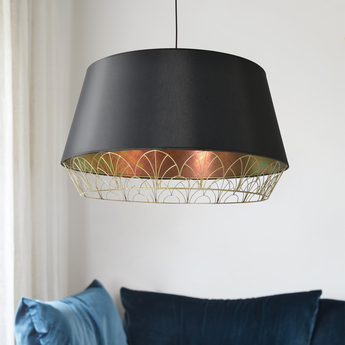 Suspension gatsby pendant noir o70cm h40 5cm market set normal