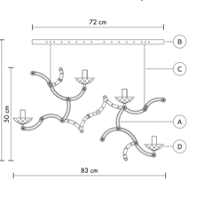 Ghebo luca de bona et dario de meo suspension pendant light  karman ghebo se146 2b int  design signed 37757 thumb