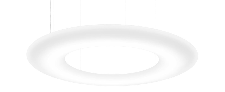 Suspension gigant 16 0 blanc led 4000k 11300lm o160cm h10 5cm wever ducre normal