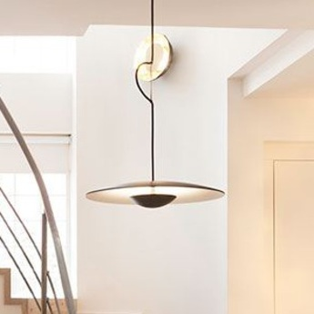 Suspension ginger 60 wenge led 28 5w 2700k o60cm h11 8cm marset normal