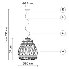 Ginger edmondo testaguzza suspension pendant light  karman ginger se116 3a int  design signed 37746 thumb