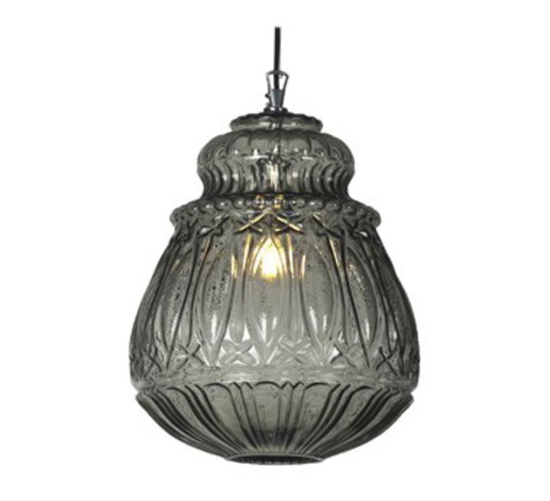 suspension ginger verre fum 30cm h37cm karman luminaires nedgis. Black Bedroom Furniture Sets. Home Design Ideas