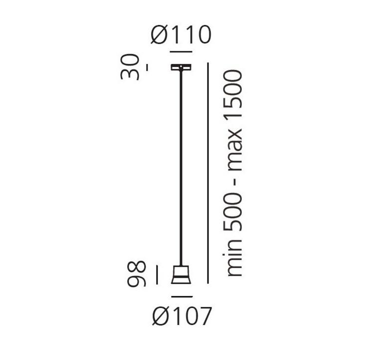 Gio patrick norguet suspension pendant light  artemide 0230010a  design signed 60741 product