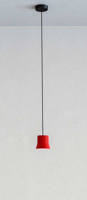 Suspension gio rouge led 3000k 430lm o10 7cm h9 8cm artemide normal