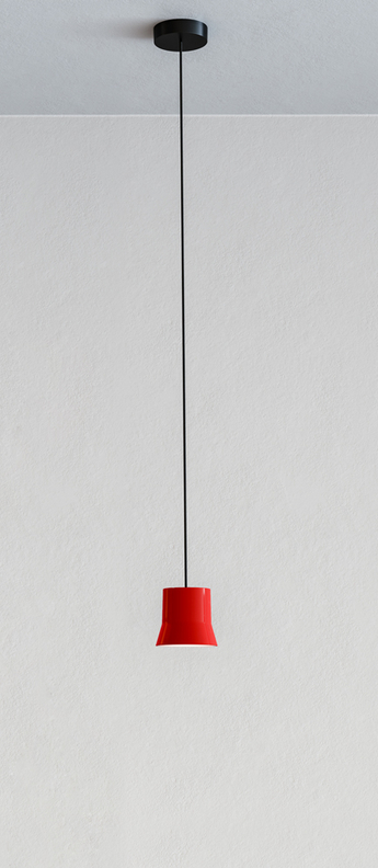 Suspension gio rouge led 3000k 430lm o10 7cm h9 8cm artemide normal
