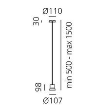 Gio patrick norguet suspension pendant light  artemide 0230030a  design signed 60749 thumb
