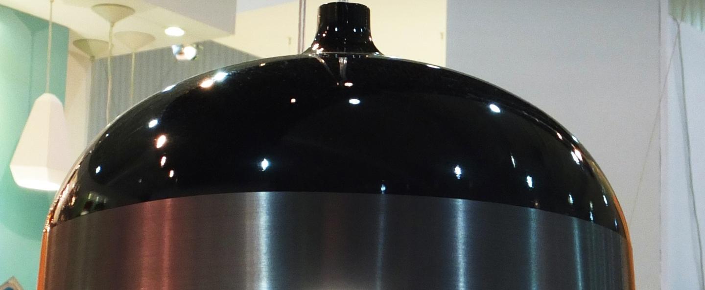 Suspension glaze noir gris anthracite h30cm innermost normal