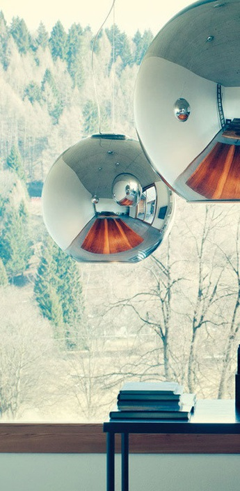 Suspension globo di luce chrome o30cm fontana arte normal