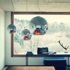 suspension globo di luce chrome 30cm fontana arte luminaires nedgis. Black Bedroom Furniture Sets. Home Design Ideas