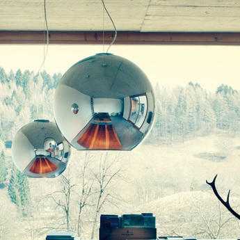 Suspension globo di luce chrome o45cm fontana arte normal