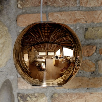 Suspension globo di luce cuivre o30cm fontana arte normal