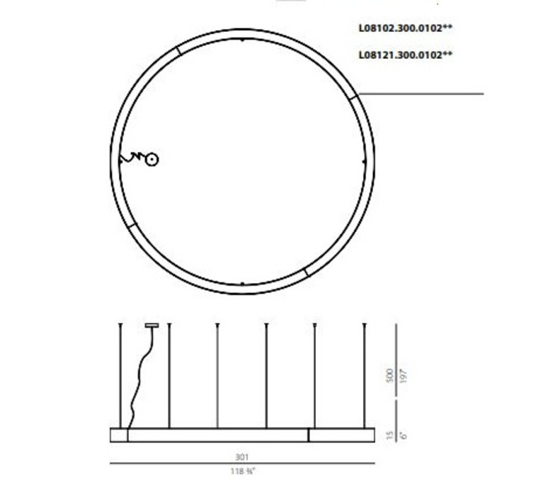 Golden ring l08101 carlo panzeri suspension pendant light  panzeri  l08101 300 0102  design signed nedgis 64207 product
