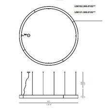 Golden ring l08101 carlo panzeri suspension pendant light  panzeri  l08101 300 0102  design signed nedgis 64207 thumb