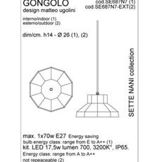 Gongolo matteo ugolini suspension pendant light  karman se687n7 ext  design signed 34864 thumb