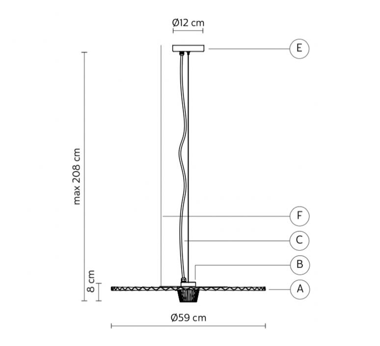 Gonzaga matteo ugolini suspension pendant light  karman se185 cc ext   design signed nedgis 74582 product