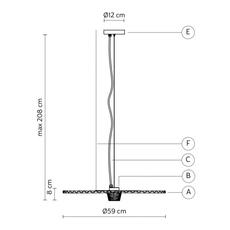 Gonzaga matteo ugolini suspension pendant light  karman se185 cc ext   design signed nedgis 74582 thumb