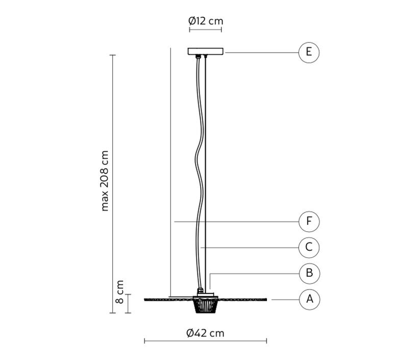 Gonzaga matteo ugolini suspension pendant light  karman se185 fc ext   design signed nedgis 74570 product