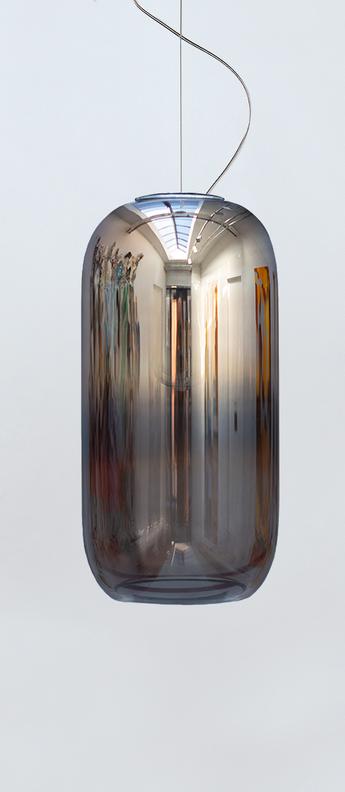 Suspension gople argent o21cm h42cm artemide normal