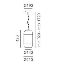 Gople bjarke ingels group suspension pendant light  artemide 1405010a  design signed 60678 thumb