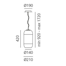 Gople bjarke ingels group suspension pendant light  artemide 1405020a  design signed 60686 thumb