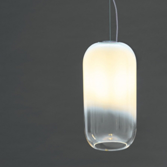 Suspension gople mini blanc o14 5cm h29 3cm artemide normal