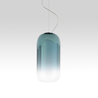 Suspension gople mini bleu o14 5cm h29 3cm artemide normal