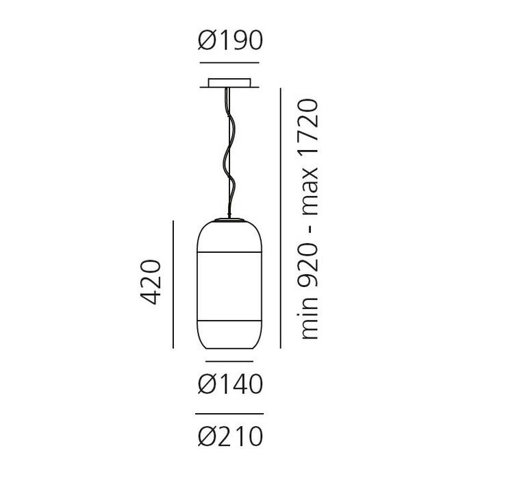 Gople rwb bjarke ingels group suspension pendant light  artemide 1407010a  design signed 60701 product
