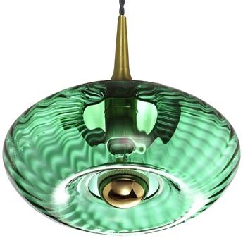 Suspension grace vert emeraude o28cm h12cm elements lighting normal