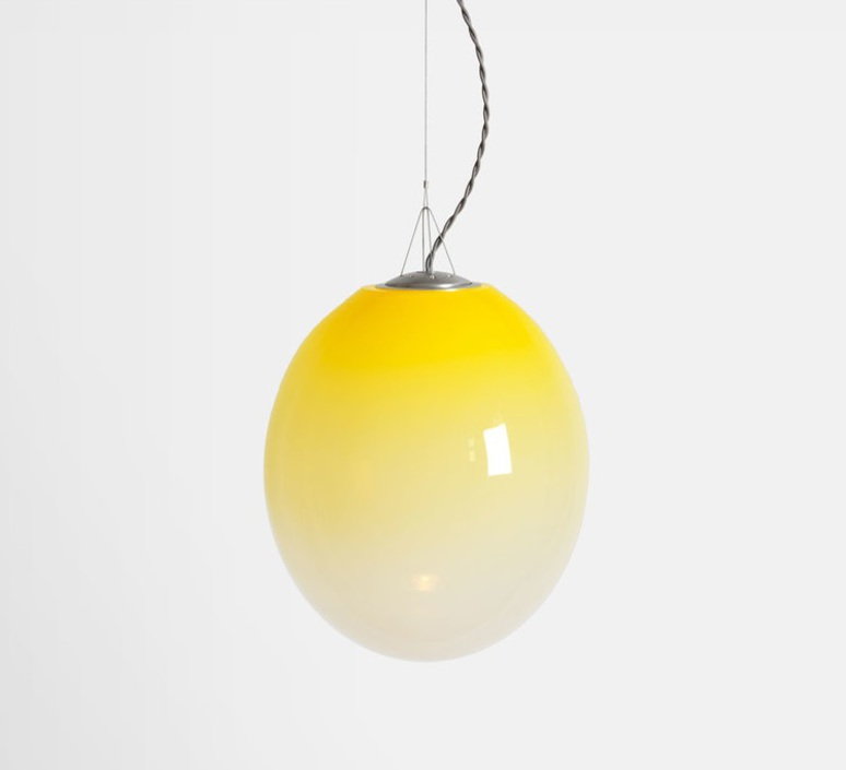 Gradation gwendolyn et guillane kerschbaumer suspension pendant light  atelier areti gradation large yellow  design signed 44144 product