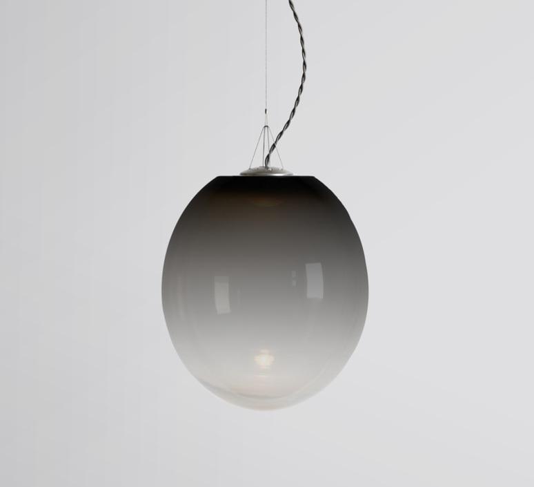 Gradation gwendolyn et guillane kerschbaumer suspension pendant light  atelier areti gradation small black  design signed 44141 product