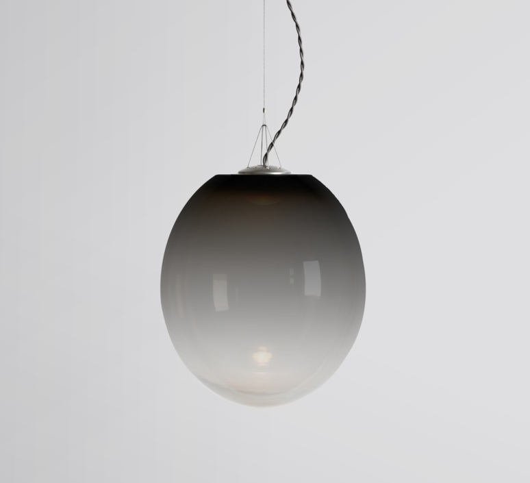 Gradation gwendolyn et guillane kerschbaumer suspension pendant light  atelier areti gradation large black  design signed 44142 product