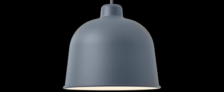 Suspension grain bleu gris led o21cm h18 5cm muuto normal