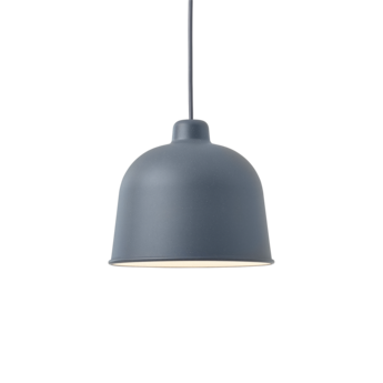 Suspension grain bleu gris led o21cm h18 5cm muuto normal