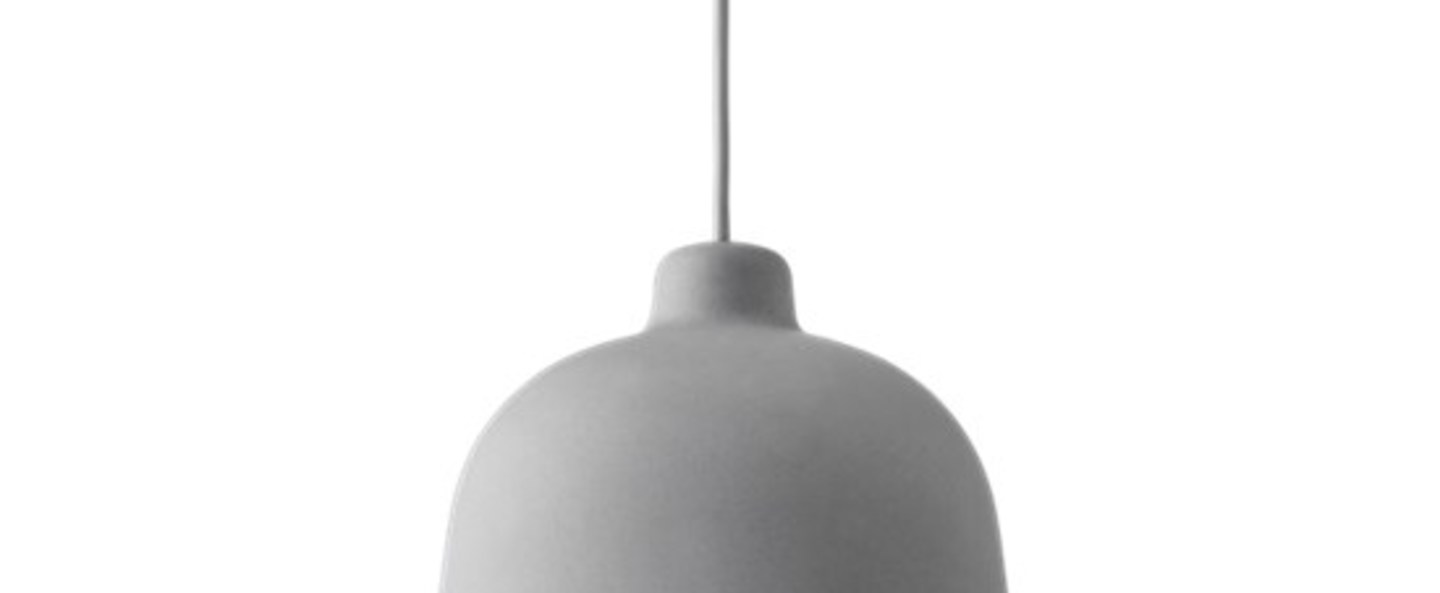 Suspension grain gris led o21cm h18 5cm muuto normal