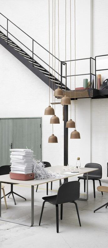 Suspension grain naturel led o21cm h18 5cm muuto normal