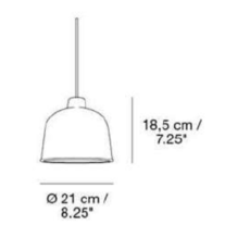 Grain jens fager suspension pendant light  muuto 21003  design signed 36181 thumb