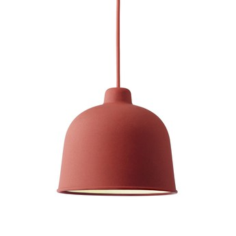 Suspension grain rouge led o21cm h18 5cm muuto normal