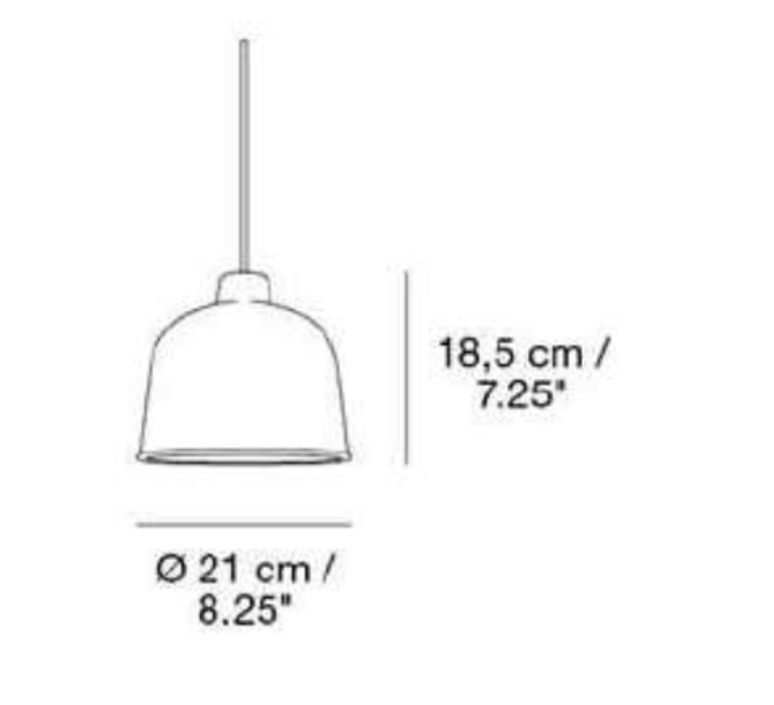 Grain jens fager suspension pendant light  muuto 21036  design signed 36178 product