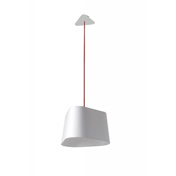 Suspension grand nuage blanc fil rouge h200cm designheure normal