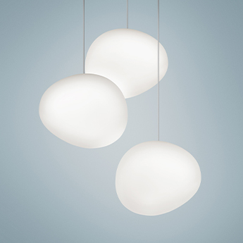 Suspension gregg midi blanc et blanc led 2700k 830lm l21cm h16cm foscarini normal