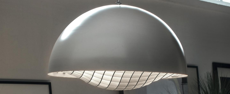 Suspension grid blanc o60cm h39cm palluco normal