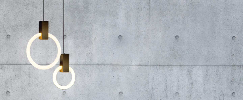 Suspension halo c2 round mixed blanc et laiton o10cm hcm studio matthew mccormick normal