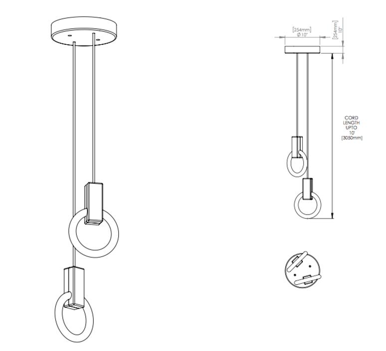 Halo c2 round standard matthew mccormick suspension pendant light  studio matthew mccormick h c2rd s brb  design signed 53234 product