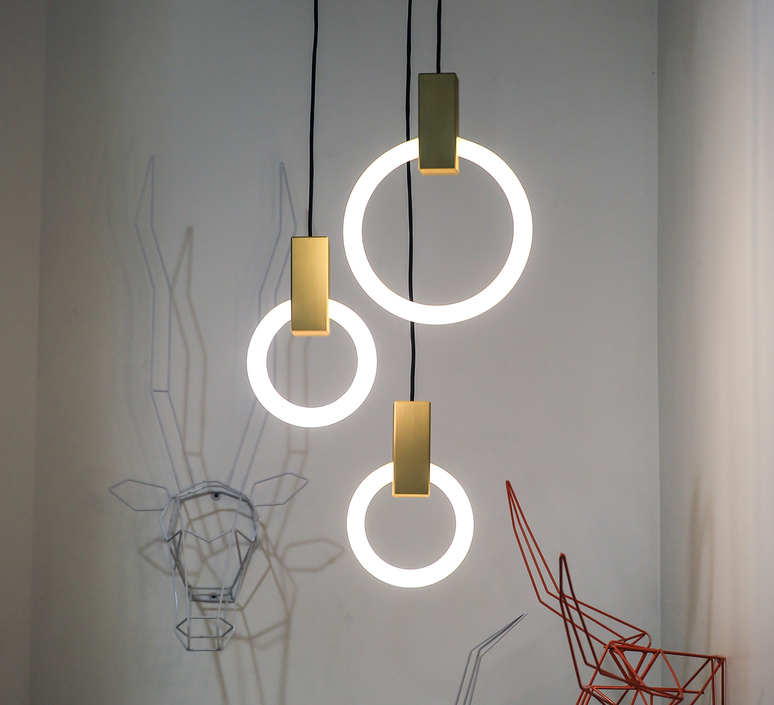 Halo c3 round mixed matthew mccormick suspension pendant light  studio matthew mccormick h c3rd m brb  design signed 53242 product