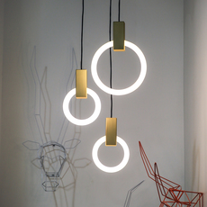 Halo c3 round mixed matthew mccormick suspension pendant light  studio matthew mccormick h c3rd m brb  design signed 53242 thumb